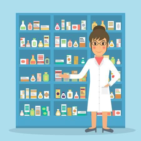 Técnico en farmacia y parafarmacia dispensando medicamentos
